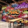 На фото граффити